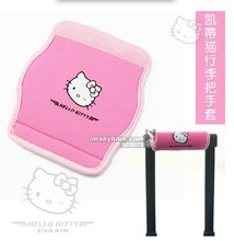 Women's Pink Hello Kitty Luggage Handle Cover Neoprene of Boot Airline Hostess Flexibility Protecting Sleeve Travel Accessories(China (Mainland))