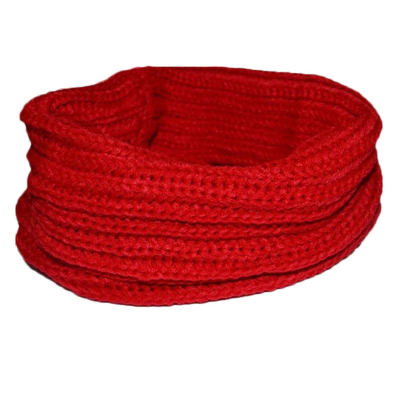 Brand new 2015 Fashion Warm Knit Neck Circle Ring Wool Blend Cowl Snood Scarf For women