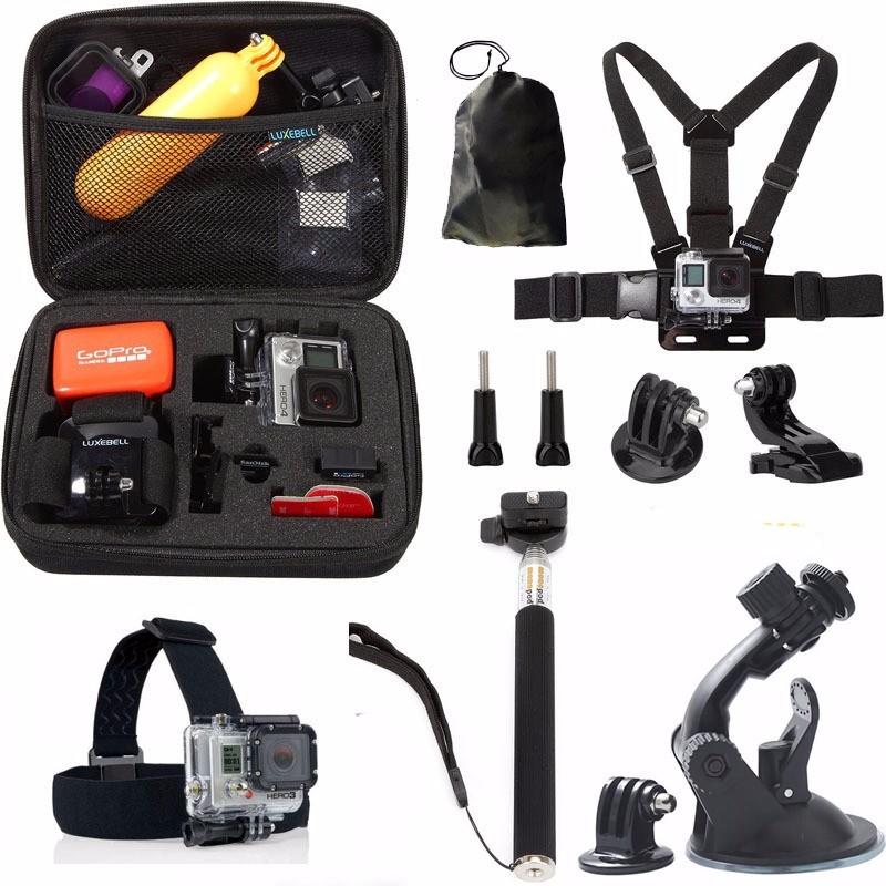new gopro accessories 9 in 1 cup for go pro hero 4 3+/3 SJ4000 Sjcam 5000 6000 7000 8000 xiaomi yi Soocoo S60 S70 camera