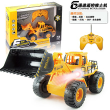 6-channel wireless light truck stunt bulldozing operation simulation model children's toy car remote control(China (Mainland))