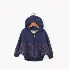 2016 Fashion Spring Cotton Children Coats Polka Dot Baby Girl Casual Hoodies Korean Style Kids Sweatshirt Clothes S4-30(China (Mainland))
