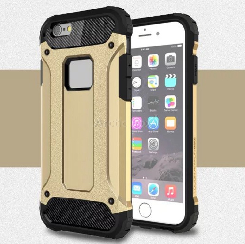 6S Hybrid Dual Heavy Duty Armor Case Cover for iPhone 6 6s Plus 5 5S SE Back Cover Silicone+Plastic Anti-Knock Phone Cases(China (Mainland))