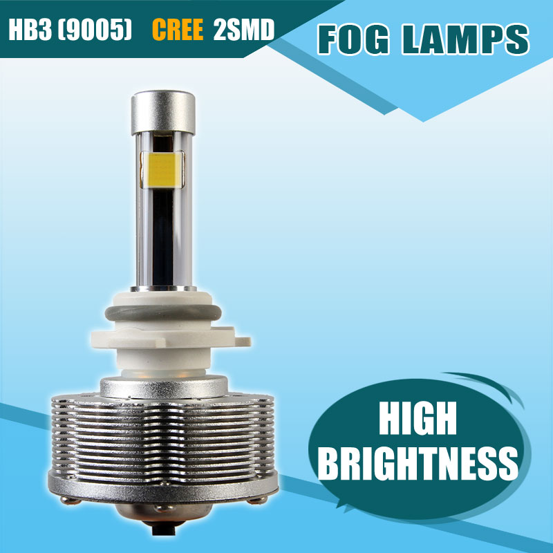 Newest HB3 9005 Cree LED Fog Lamps Automotive Convision Kit HB3 9005 LED Cars Bulbs Brightest 6000K Super White DC12V 40V(China (Mainland))