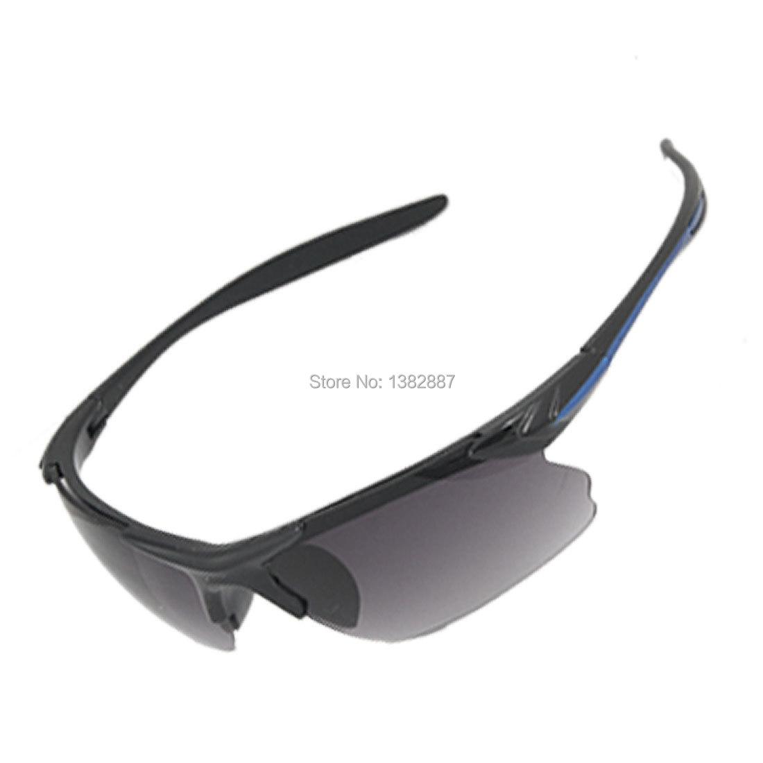 Unisex Smoke Lens Blue Black Arms Sports Sunglasses Eyewear Protector Glasses New Lens Discount 50(China (Mainland))