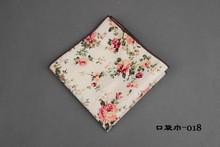 Brand Wedding Pocket Square Cotton Floral Ties For Men Suit Gravatas Corbatas Slim Vestidos Neck Tie Cravat + Handkerchief(China (Mainland))
