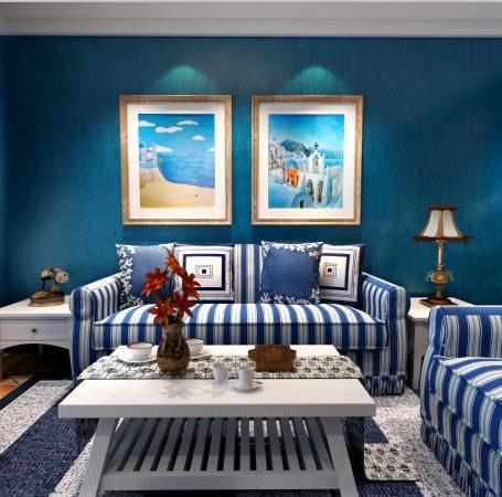 Dark blue wallpaper living room background wall modern - Blue wallpaper living room ...