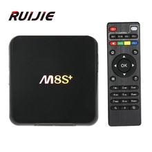 M8S Plus/M8S+ Android 5.1 TV Box Amlogic S812 Quad Core 2GB/8GB 2.4G&5G Wifi H.265 HEVC Gigabit Lan Bluetooth 4.0 KODI Smart tv