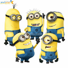 free shipping despicable me 2 minion movie decal zooyoo1404 removable cartoon wall sticker home decor arts kids nursery gifts(China (Mainland))