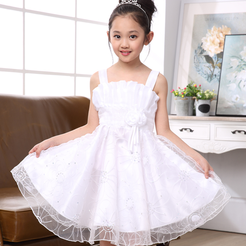 Free Shipping Girls Wedding Party Dresses Cheap,7 Color Infant Wedding Dress Lovely Girl,Children Party Dress Cute Girls Clothes(China (Mainland))