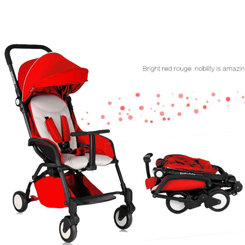 Отличное качество путешествия складной детские коляски, Портативный легкий вес коляски зонтик корзина коляска, Детские детские коляски красный