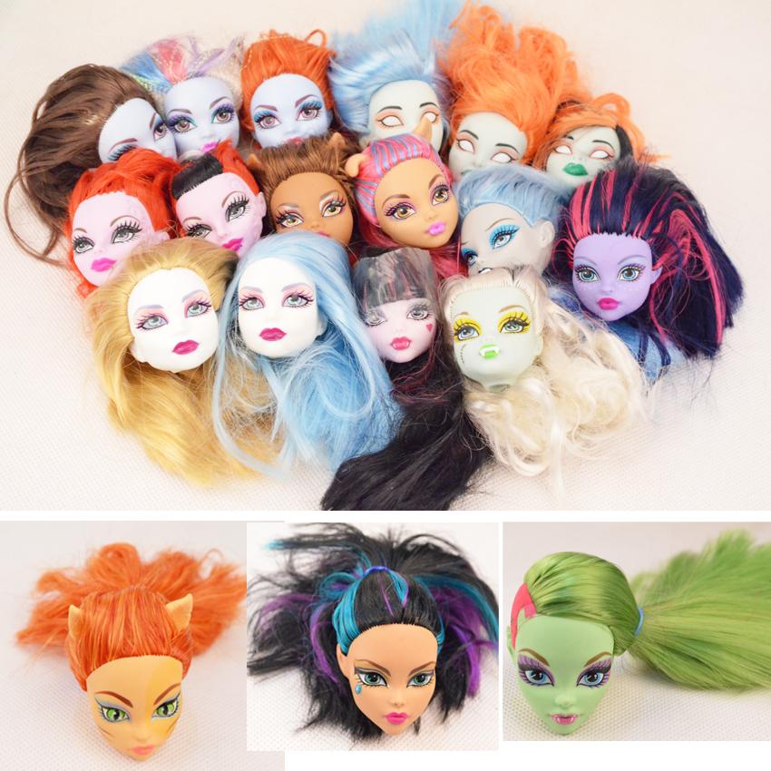 Original Head for Genuine Original Monster High dolls,,Free shipping,Original Monster High clothing doll's head(China (Mainland))