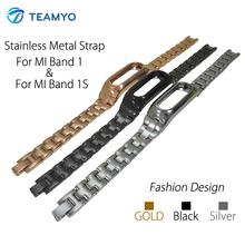 Unisex Adjustable Alloy Wristband Band Strap for Xiaomi Mi Band 1S 1A Smart Bracelet Wrist Band Silver Black Golden Color