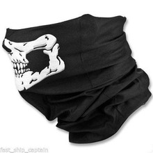Men Women Fashion Skull Design Multi Function Ski Sport Motorcycle Biker Scarf Half Face Mask Sport Headband Free Shipping