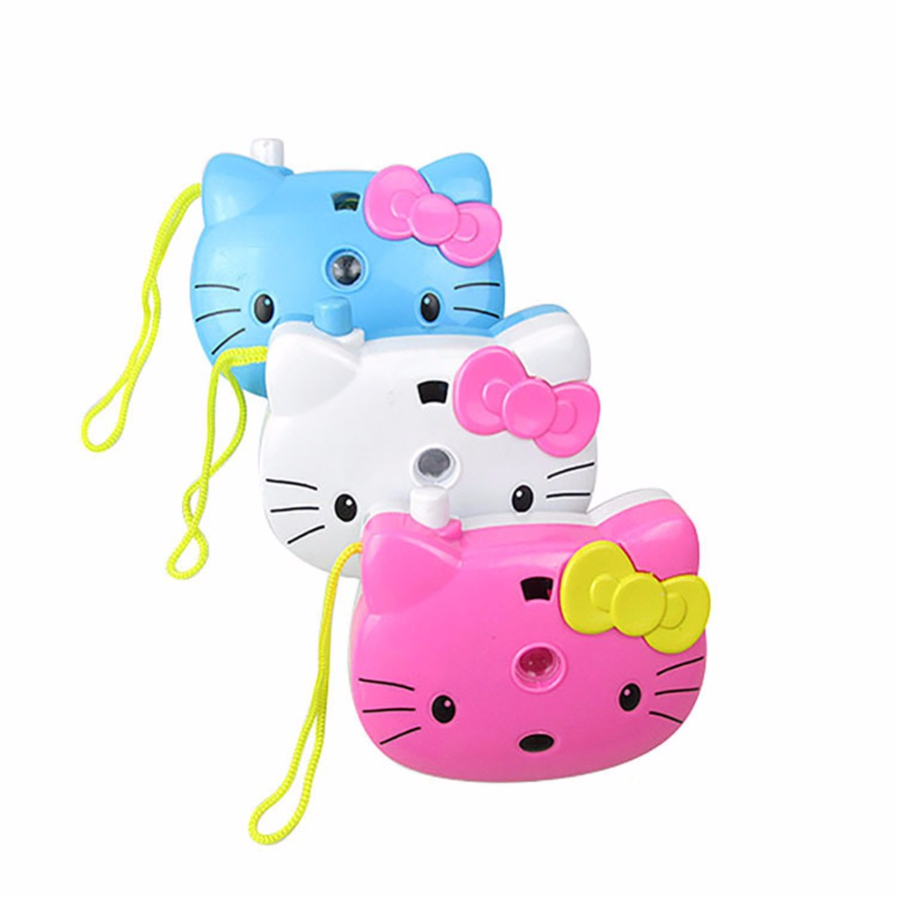 5pcs/LOT Cartoon Kitty Toy Camera Projection Edcational Toys For Children Funny Toy For Toddler