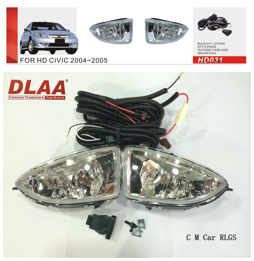 Car fog lamps, light source, safety DLAA fog lamps, suitable for Honda  CIVIC 2004-2005 H11/12 V 35 w<br><br>Aliexpress