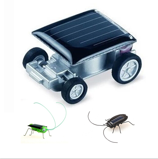 Mini solar car caterpiller acrydian cockroach bug toy lunokhod(China (Mainland))