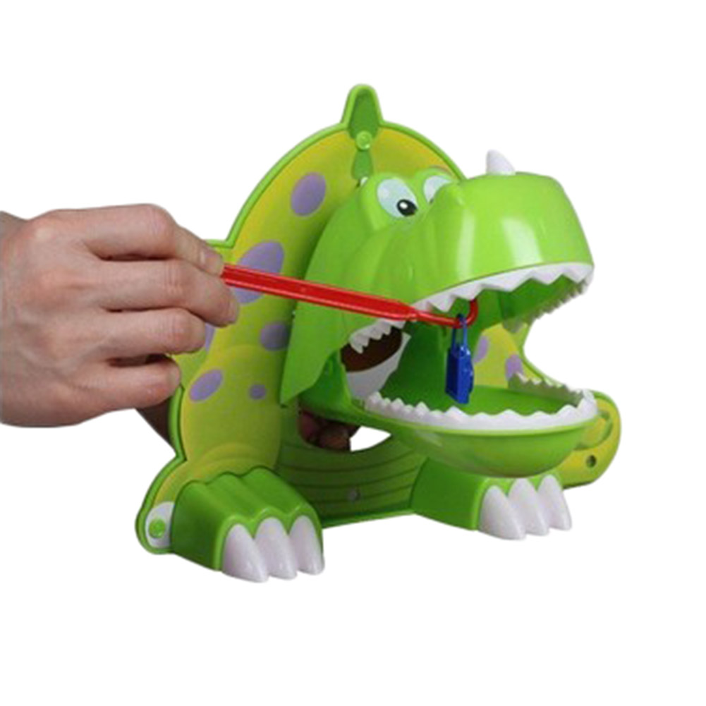 2017 New Arrival Hungry Dinosaur If You Don't Get It Right ,The Dinosaur Might Bite Kids Children Great Family Game Funny Toys(China (Mainland))