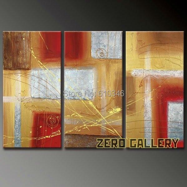 Enorme oferta especial siliver rojo abstracta moderna for Pintura acrilica moderna