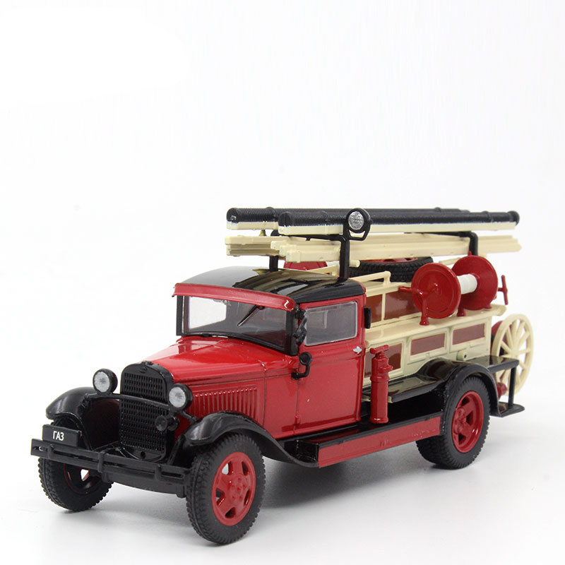 Brand New 1/43 Scale Car Model Toys Soviet Union GAZ-7 Fire Truck Vintage Diecast Metal Car Model Toy For Collection Gift Kids(China (Mainland))