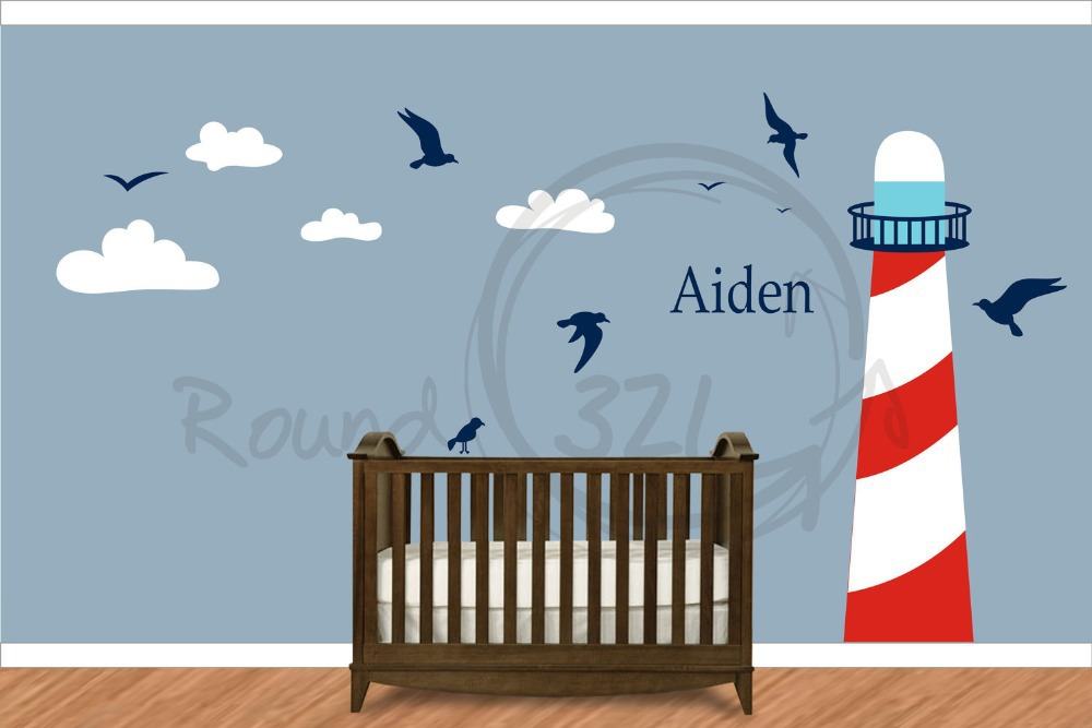 Nautical Themed Kids Room : Nautical Anchor Wall Decal Cartoon Vinyl Wall Stickers for Nursey Kids ...