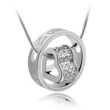 Han edition is small adorn article Crystal jewelry wholesale - fortunes love fashion necklace - love life 021(China (Mainland))