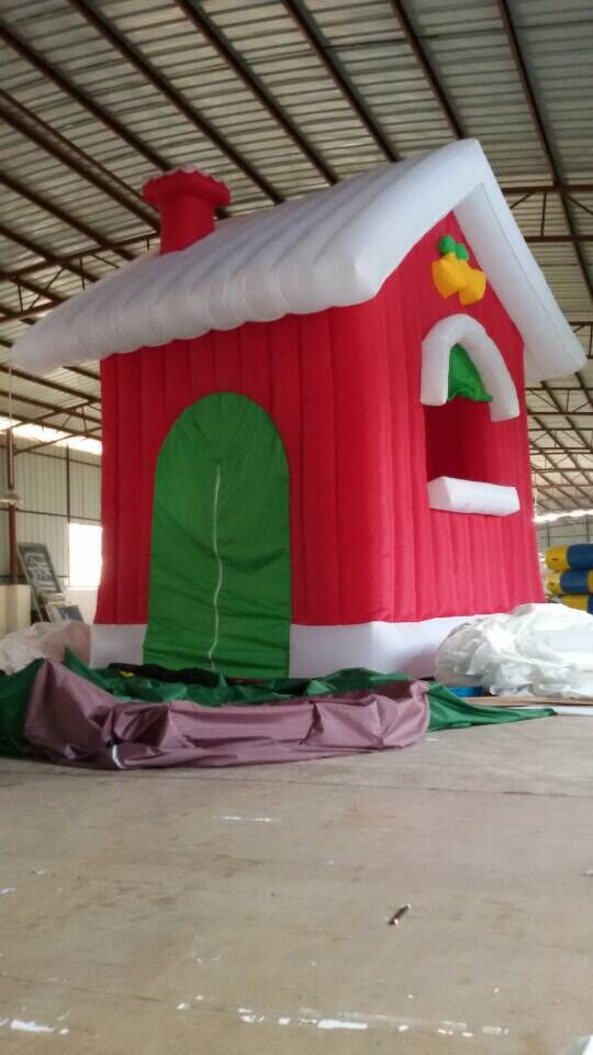 Factory sale santa inflatable Christmas house for party decoration(China (Mainland))