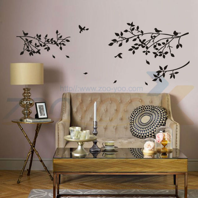 Счастье главная отрасль птицы домашнего декора стены этикету 8118 декоративные adesivo де parede съемный стикер стикер стены настенной росписи