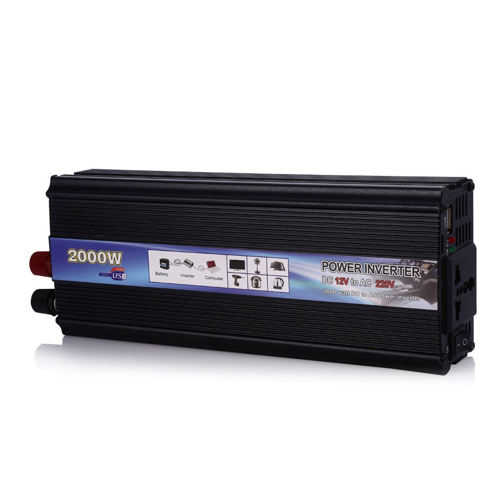 Inverter 1000W DC 12V AC 220V Auto Power Supply Switch On Board Charger High Converting Efficiency Safely Shuts Down for Vehicle(China (Mainland))