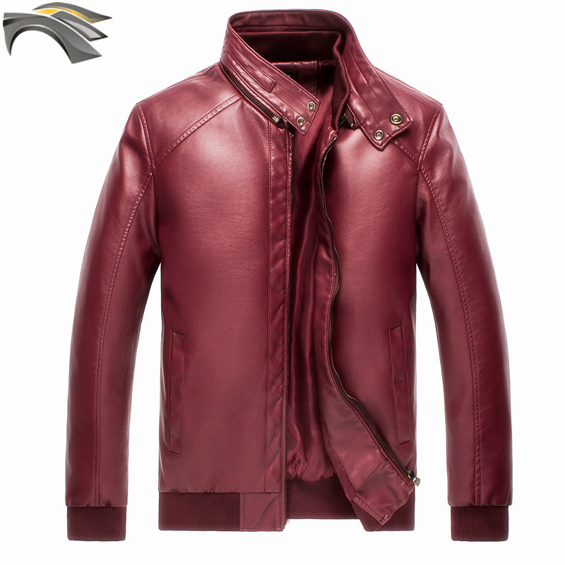 Popular Wine Color Leather Jacket-Buy Cheap Wine Color ...
