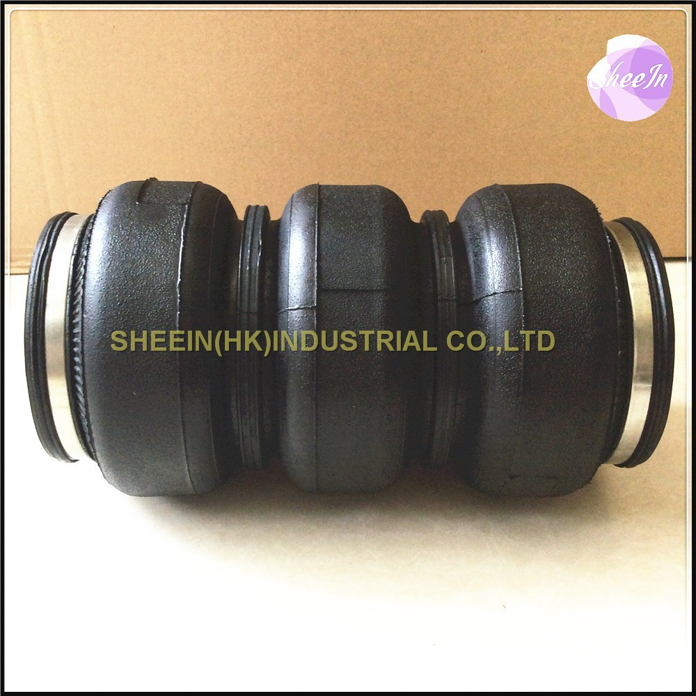 Dia 142mm SN142268BL3 Triple convolution air spring shock absorber pneumatic parts air suspension Firestone replacement part