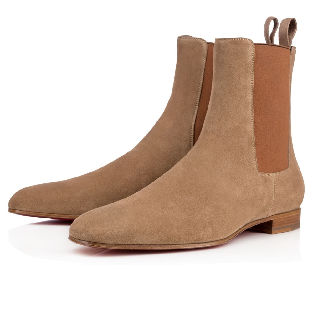 Brown &amp; Black Suede Nubuck Leather Fashion Brand Design Booties New Round Toe Slip-On Ankle Height Women Boots Shoes Woman Boots<br><br>Aliexpress