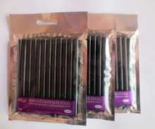 24 PCS/Lot Black Hair Extension Glue Sticks Hot Melt Glue Stick for hair extension(China (Mainland))