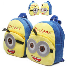 2015 New Fashion Despicable Me 2 Kids Cartoon school bags child Backpack Minions schoolbag little baby mini cute bags