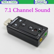 3D Audio USB Sound Card Adapter 7.1 Channel Sound Professional Headset Microphone 3.5mm Jack Converter