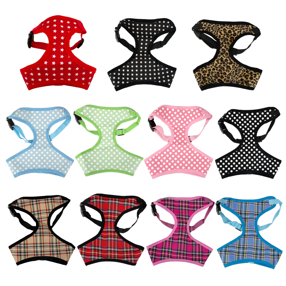 Breathable Printed Mesh Padded Puppy Small Dog Pet Harness Vest Clothes Various Style For Chihuahua(China (Mainland))