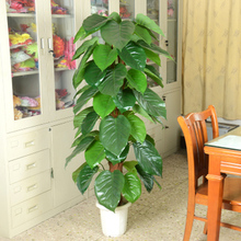 Artificial tree bag brown fake tree artificial flower living room decoration green silk flower plants floor bonsai