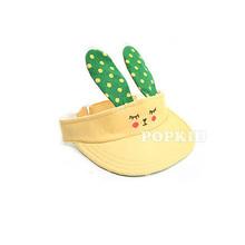 New Fashion Kids Hats Baby Toddlers Cap Bunny Polka Dots Hat Top Summer Sun hat