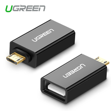 Ugreen Micro USB to USB OTG Adapter Male to USB 2.0 Micro Adapter Converter for Samsung Xiaomi LG Huawei Android Mobile Phones(China (Mainland))