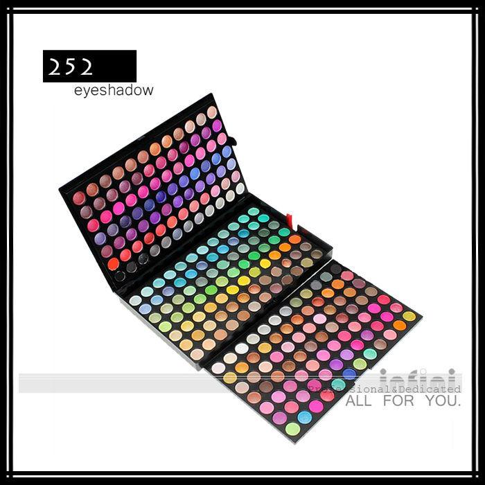 Uran Makeup Professional Make up 252 Color Eyeshadow Brand Eye Shadow Make-up Palette Kit Cosmetics Set Case Free Shipping(China (Mainland))