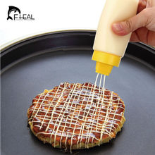 4-Hole Squeeze Type Sauce Bottle Safe Silicone For Ketchup Jam Mayonnaise Olive Oil(China (Mainland))