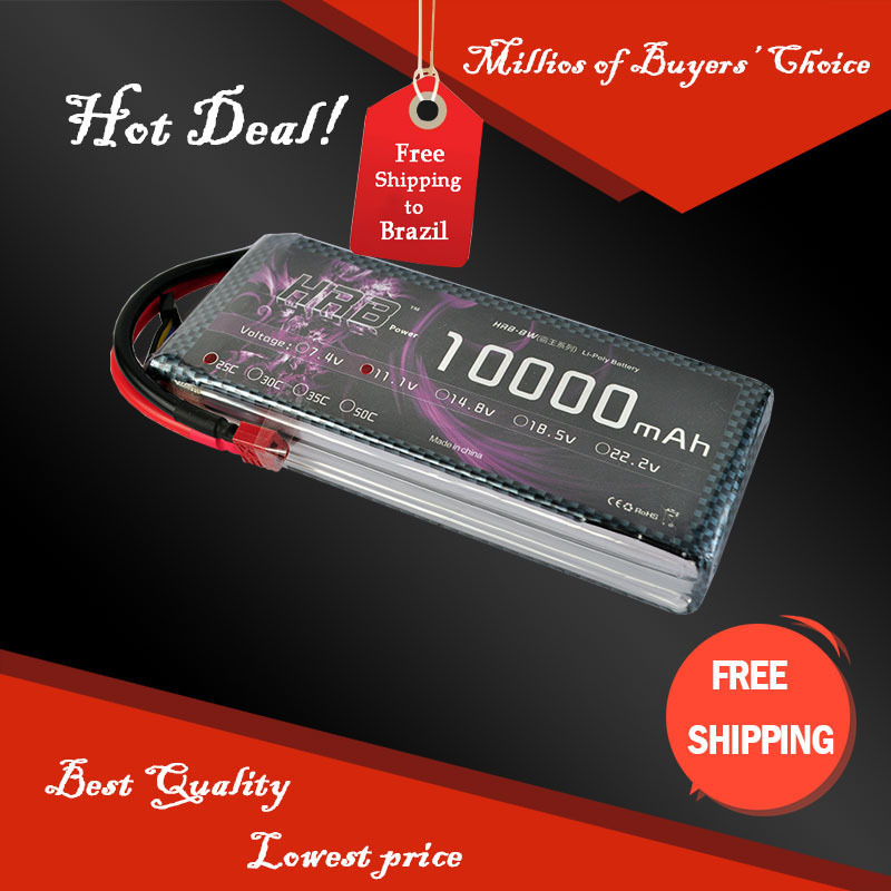 HRB RC battery 10000mah 11.1V 25C Max 50C Toys & Hobbies For Helicopters RC Models Li-polymer Battery(China (Mainland))