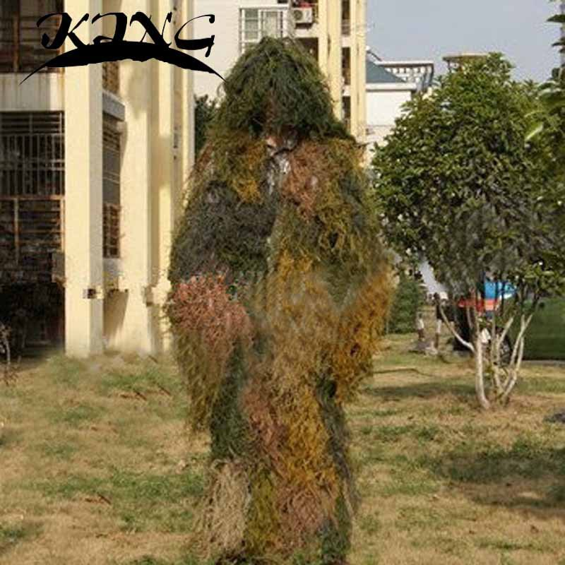 Ghillie Suit  Hunting Archery Sniper Suit Gun Wrap Bag Paintball Ghillie Uniform Camo Adult Gilly