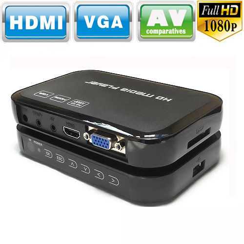NEW Full 1080P HD Multi TV Media Player USB HDMI SD/MMC RMVB MKV RM MKV MOV AVI DIVX Free Ship(China (Mainland))