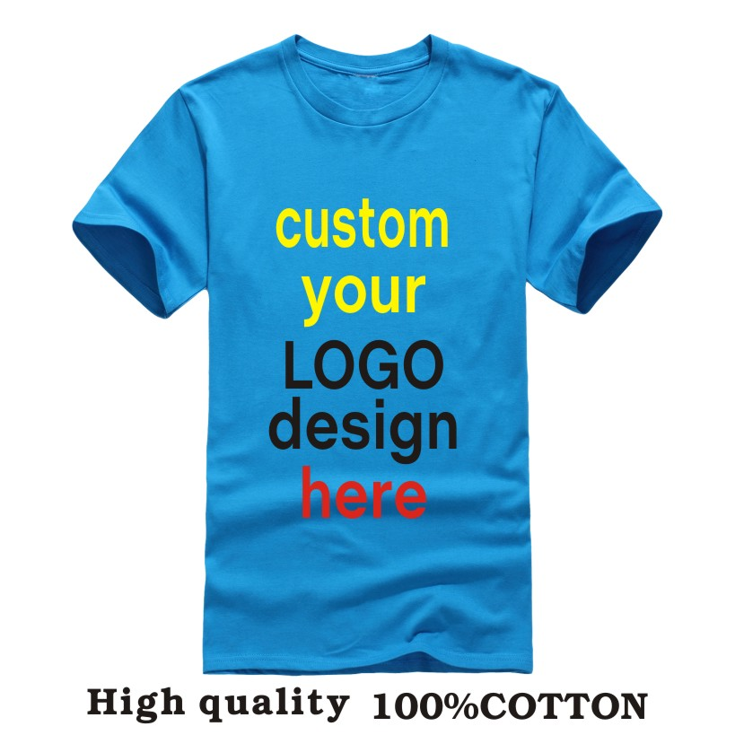 Custom logo t shirts printing Camisas Factory Company men women t-shirts Embroidery Heat Transfer Printed Personal Graphic HY(China (Mainland))