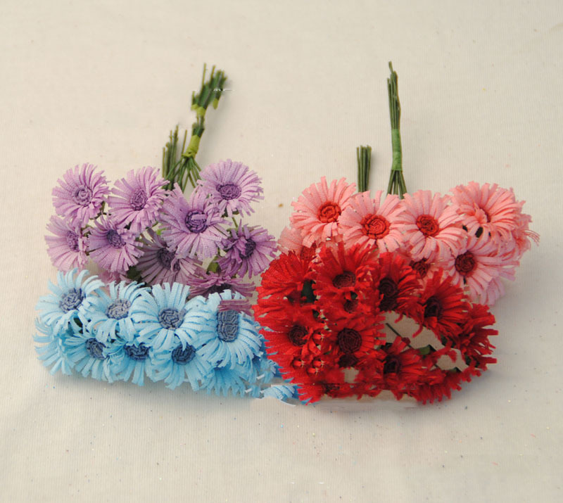 diy baby hair flowers Colorful cloth sunflowers hand-craft versatile accessories 100 pieces(China (Mainland))