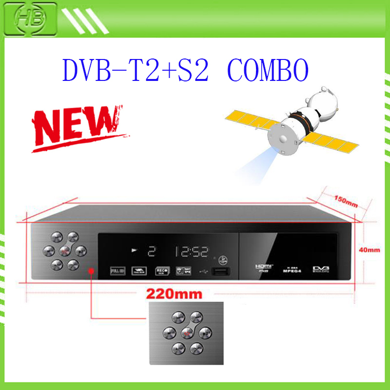 New FTA DVB-S2+T2 DVB S2 T2 HDTV Digital TV Satellite Receiver Set Top Box Support HDMI MPEG-2/4 H.264 USB 2.0 Auto / PAL / NTSC(China (Mainland))