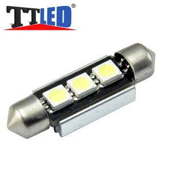 10X Festoon 3 smd 5050 36mm 39mm 42mm 3smd Led canbus Car interior indicator License plate led bulb lights #TK16-1