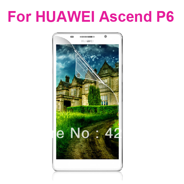 Anti-Glare Matte / Clear Screen Pprotector for Huawei Ascend P6 With retail package, Free Shipping