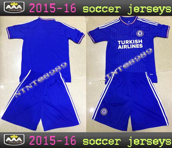 The new 2015/16 Chelsea Chelsea football jersey sportswear shirt 1516 Children's dangerous Oscar Torres soccer uniforms suit(China (Mainland))