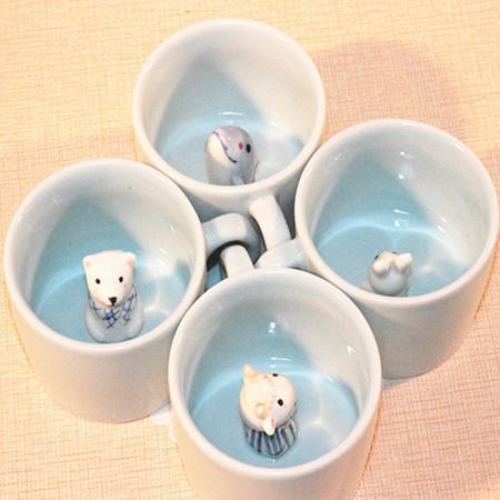 Porcelain ceramic coffee cups Moomin Rousseaulove cartoon Humic mug beautiful lovely gift 1pc(China (Mainland))